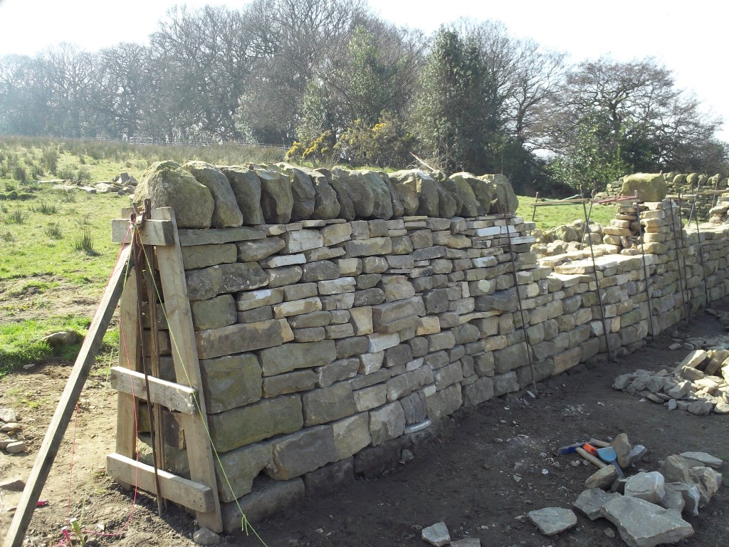 Dry Stone Wall End Completed