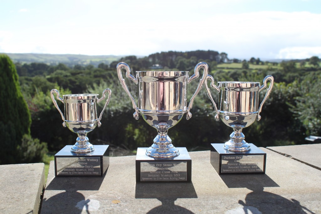 Durham Dry Stone Walling Competition Novice Prize Cups